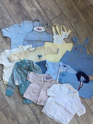 Baby Toddler Boys Vintage Estate Lot Size 6-24m 40s 50s Rompers Shirts Shortalls