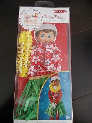Elf on the Shelf CLAUS COUTURE  HOLIDAY HULA WEAR SET New in Package