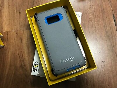 New OtterBox DEFENDER SERIES for Samsung Galaxy S8+ Plus - GUNMETAL GREY Blue