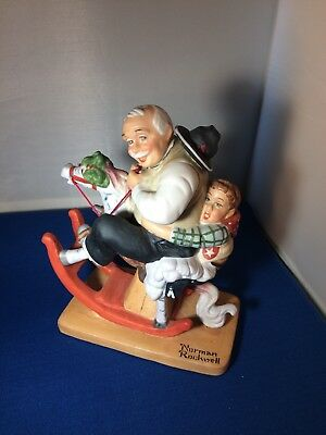 """""""Gramps at-the Reins"""" 1980 Norman Rockwell, The Danbury Mint"""