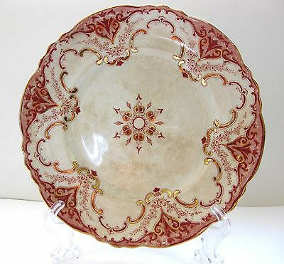 """Vtg England-Made """"Cambridge"""" A. Meakin Semi-Prclain Luncheon Plate-Stained 8 3/4"""