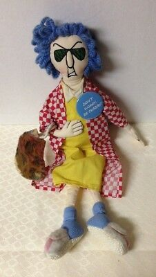 "Maxine Crabby Doll 16"" tall with pin Don't Worry Be Crabby"