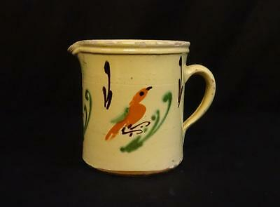 Antique French Pottery Pitcher Decorated with Birds