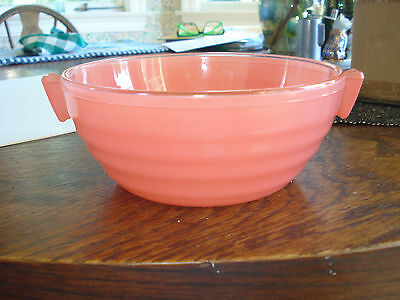 Vintage Phoenix Glass Serving Bowl Deco Style/pre Pyrex Made In England
