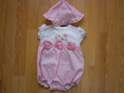 Spanish Style Baby Girl Romper and Hat Set / Outfit