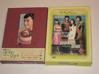 Lot of 2 Complete Korean Tv Shows Drama DVD Video Sets All Region Play