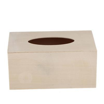 Creative Unfinished Wood Tissue Box Cover Paper Holder DIY Projects Crafting