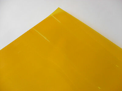 104 DEEP AMBER Heat Proof Coloured Transparent Acetate Gel Sheet Crafts Lighting