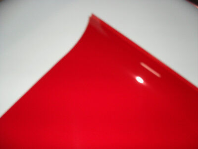 019 FIRE RED Heat Proof Coloured Transparent Acetate Gel Sheet Crafts Lighting