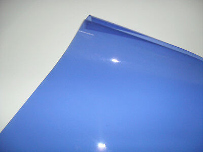 201 FULL BLUE Heat Proof COLOURED Transparent Acetate Sheet Crafts Lighting GEL
