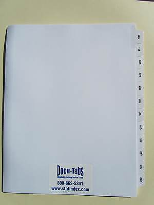 JAN-DEC loose leaf Index Tab Dividers 60 SETS Collated, Made in USA