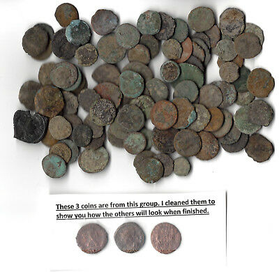 87 Med. Quality Uncleaned Ancient Roman Coins Each coin $1.76! Buy10 get 1 free!
