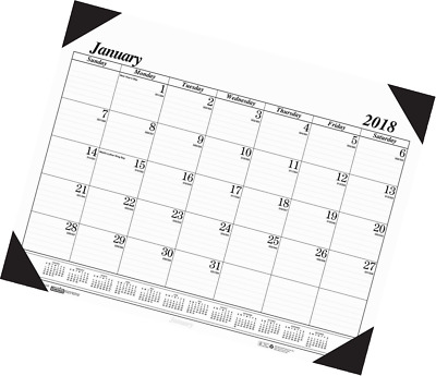 House of Doolittle 2018 Monthly Desk Pad Calendar, Economy, 22 x 17 Inches, Janu