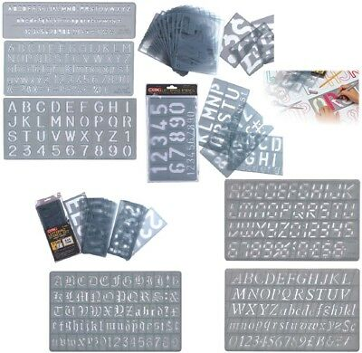 LETTERING STENCILS UPPER or LOWER CASE NUMBER STENCIL 5 10 15 20 30 50 100 150mm