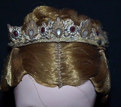 "1950s Vintage Madame Alexander 20"" CISSY Doll TIARA Queen crown"