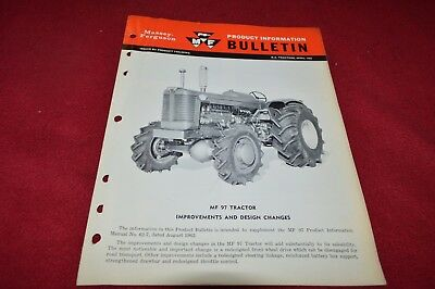 Massey Ferguson 97 Minneapolis Moline Tractor Product Information Brochure SMPA