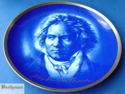 Collector's Plates/Wall Plate Beethoven Royal Porcelain Manufactory Tettau K137