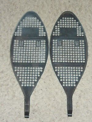 Antique Vintage Black Metal Winter Snowshoes