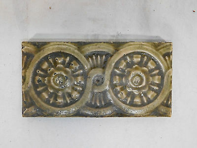 Antique TRENT Fireplace Surround Hearth Tiles - C. 1885 Architectural Salvage