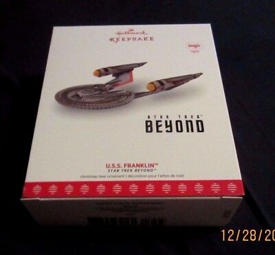 Hallmark Ornament Star Trek 2017 Uss Franklin~New~Box Good W/price Tag!
