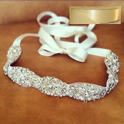 "Wedding Sash Belt - CRYSTAL Pearl Wedding Sash Belt = 20"" LONG = IVORY SASH"