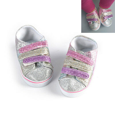Sequins Sneacker Shoes For 43CM zapf Baby Born Dolls 18inch American Girl Doll: