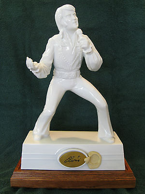 Elvis Presley Whiskey Decanter/Musical Wood Base by McCormick Distilling Co.