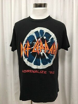 Vtg Def Leppard T Shirt Size Xl Adrenalize 1992 Tour Heavy Metal