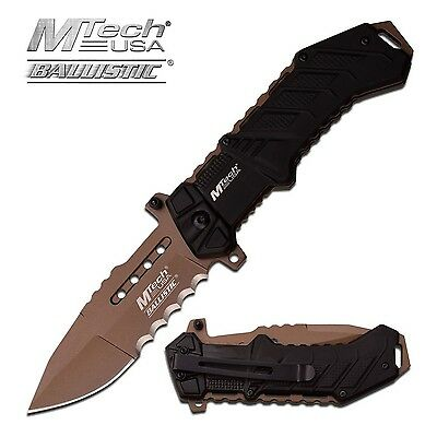 Tactical Mtech USA Tactical Knives Spring Assisted Folding Pocket Knife Black