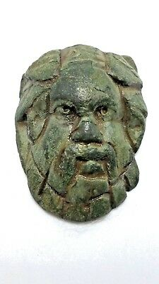 Ancient Roman Period 'Head of Dionysos' Bronze Applique, 1st - 3rd A.D.