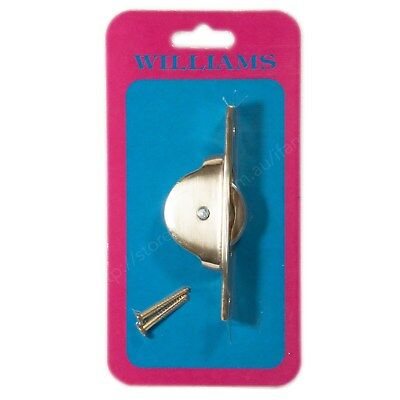 WILLIAMS Heavy Duty Sash Pulley Polished Brass 34677