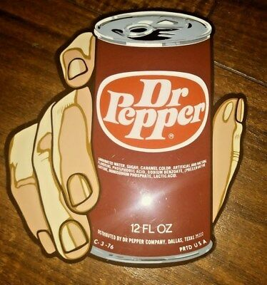 Very Rare Mint Dr Pepper Can Hand Sticker From The 60`s