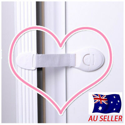 Child Kids Baby Safety Adhesive Locks For Drawer Cabinet Cupboard 1, 2, 5, 8 pcs