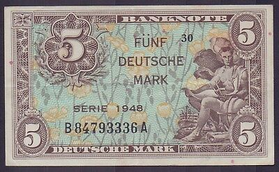 5.- DM 1948, Ros. 236a, fast unc., sehr selten..!!