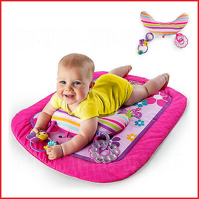 Baby Mat Prop Pillow Play Time Activity Learning Smart Bright Starts Tummy Girl