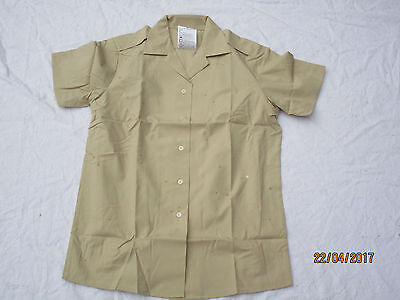 Shirt Women Short Sleeve, Blouse Fawn Army, Size 108 English, Army Shirt, Sleeve
