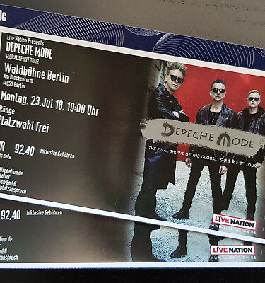 2 karten depeche mode waldb hne berlin 25 juli 2018 global spirit tour tickets eur 266 00. Black Bedroom Furniture Sets. Home Design Ideas