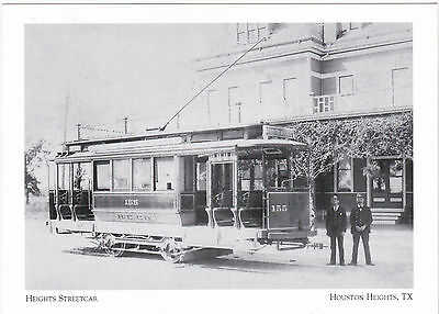 """*Postcard-""""The Heights Streetcar""""(California Cars delivered-1902) Houston (#39)"""