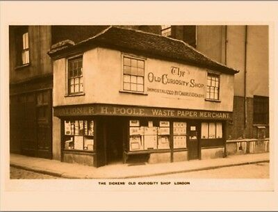 """*Postcard-""""The Dickens Old Curiosity Shop""""   ...London-  ...Classic- (V-16)"""