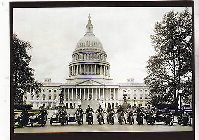 """*Postcard-""""The Motorcycle Cops"""" ...front of Capital Building- **Postcard"""