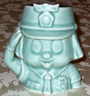 Vintage Whimsical ~ Ceramic / Pottery BANK ~ FEMALE POLICE OFFICER
