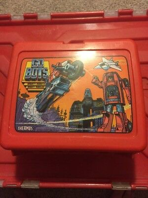 Vintage Go Bots Lunch Box Very Nice!!!