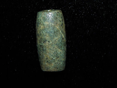 Pre-Columbian Green Jade Bead, Nicoya Costa Rica, Tubular Bead, Authentic, Large