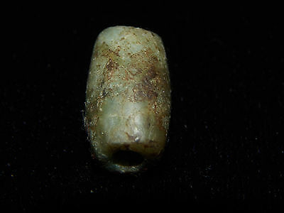 Pre-Columbian Jade Bead, Nicoya Costa Rica, Tubular Bead, Authentic