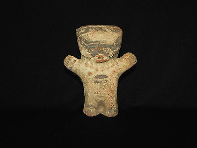 Pre-Columbian Standing Pottery Figure, Chancay, Peru, Authentic