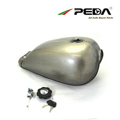 uk Cafe Racer Fuel Tank 9L 2.4 Gallon Motorcycle Gas Can For Suzuki GN Universal