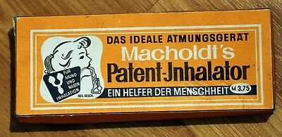 Macholdt's Inhalator DDR ANTIK Inhaliergerät Apotheke alt Drogerie Inhalation