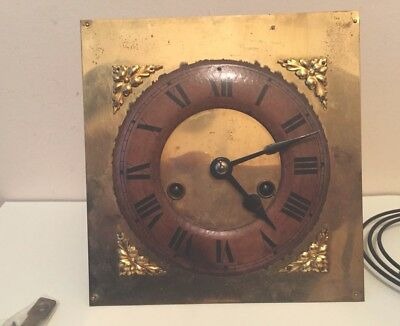 "HAC German Wall  Clock Complete Movement  Gong & Key GWO 6.85"" S 4""D"