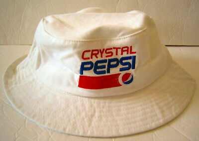 Crystal Pepsi BUCKET HAT White Brand-New Collectible 90s Throwback Gear 2017