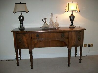 Antique Georgian bow fronted Mahogany Sideboard in the style of Gillows1820